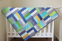 This is made with a Jelly Roll.  Pretty.  There are links for the free pattern and one for a video tutorial.
