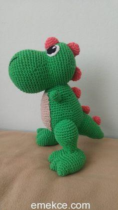 Amigurumi T-Rex Dinozor Oyuncak Yapımı | Emekce.com