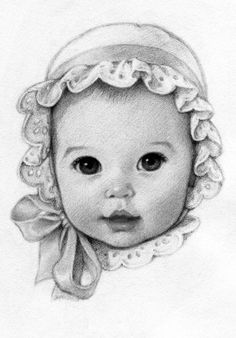 pin by lana sammons on art in 2018 drawings, pencil - pencil sketch of Pencil Art Drawings, Drawing Sketches, Baby Face Drawing, Stylo Art, Baby Sketch, Baby Illustration, Baby Faces, Face Pictures, Retro Baby