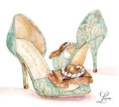Custom Painted Wedding Shoes | Lana's Shop | Illustration