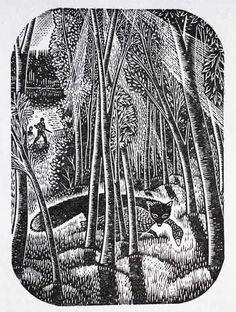 Gwenda Morgan (British, 1908-1991). Fox with goose. 1945. (wood engraving)