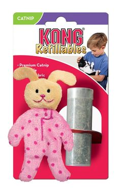 KONG Pajama Buddy Refillable Catnip Toy