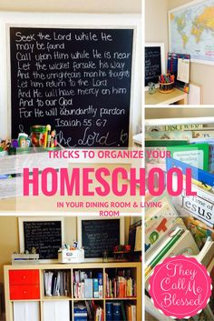 Don't have a homeschool room? No problem! You can still organize your homeschool anywhere without making it look like a classroom!