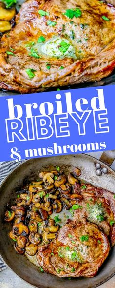 The Best Oven Broiled Ribeye Steaks with Mushrooms Recipe ⋆ Sweet C's Designs