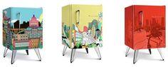 O Estúdio Colletivo de Design estampou três modelos dos mais que desejados frigobares da linha Brastemp retrô para uma promoção do Shopping Morumbi, todos exclusivos e maravilhosos.