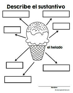 Los adjetivos en espanol (Adjectives in Spanish). Adjectives in Spanish, worksheets, and practice vocabulary for bilingual, immersion and dual language students learning adjectives in first or second grade class. Dual Language Classroom, Bilingual Classroom, Bilingual Education, Spanish Classroom, Spanish Teaching Resources, Spanish Activities, Spanish Lessons, Writing Activities, Learn Spanish