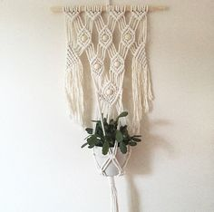 Macrame Wall Plant Hanger by BOTANICAhome on Etsy