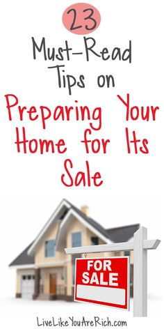 I've taken multiple real estate courses. I've also been doing a lot of research and asking trusted experts for tips on preparing and staging a home to sell it. Here is what I knew and the things I have recently learned. #LiveLikeYouAreRich