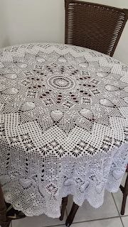 Lair knitting and crochet: round tablecloth crochet! Crochet Tablecloth Pattern, Crochet Bedspread, Crochet Doily Patterns, Crochet Art, Crochet Home, Thread Crochet, Filet Crochet, Crochet Designs, Crochet Round