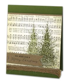 We Wish You...Christmas Trees Card - click through for project instructions.