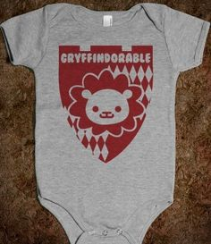 So this is so adorable. (I love Harry Potter.) :: Gryffindorable Baby One Piece by Skreened