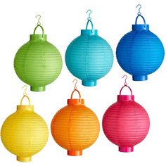 """Pier 1 Imports Party Pack Paper Lanterns Set - 8"""""""