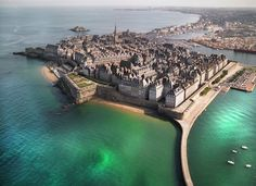 The walled city of Saint-Malo in France, notorious for being a safe haven for pirates Not pirates, but privateers… Big difference.