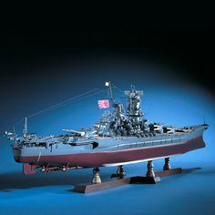1:250 Battleship Yamato scale model ship