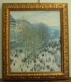"Claude Monet, Boulevard des Capucines, Artist Enhanced, Limited edition and numbered 78/4500 giclee by the Museum Shop, Brushstrokes. STUNNING Monet reproduction. Measures 26.5 ""x30"" unframed. Canvas measures 20""x24"""