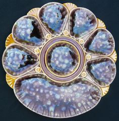 Minton majolica oyster plate. This is insanely beautiful!