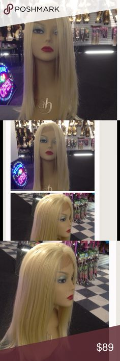 #Wig Platinum lk at my reviews all colors ask me #Lacefront Adjustable cap synthetic heat resistant wig Tess wig Milwaukee is the Nations #1 Wig and Hair Shop Tess owns a few Wig shops Milwaukee and a 5 star SeLR LK @ my profile my wigs are new  & quality no low Ballars Click on profile all 5 star reviews if u see it it's available wig comes in other colors if your not sure look in my closet tag me in a color if u have document medical hair-loss your wig is now a prosthetic N maybe covered…