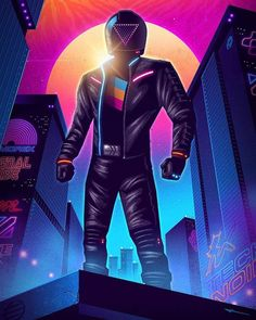 Artist: @signalnoise Title: The Rider Visit this artist profile for more amazing work! . /////////////////////////////////////////////////////////////////////// . By using the hashtag #retrowavevr your design would be featured on Retrowave...