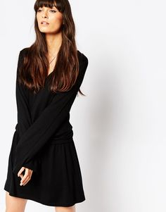 ASOS V Neck Dress with Channel Waist