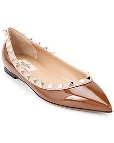 Valentino Rockstud Patent Ballet Flat #sale