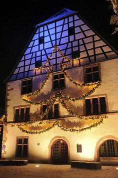 Noël en Alsace, dans la vallée de Kaysersberg, France.