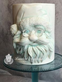 BasRelief Santa - cake by Lesi Lambert - Lambert Academy of Sugar Craft