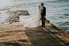 Epic first look photos at Sunset Cliffs via Magnolia Rouge