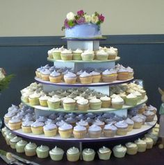 The Original Cupcake Tree - Large Round (holds up to 300 cupcakes) $35 This website has tons of affordable craft and home goods!