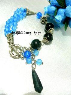 handmade #bracelet : resin bead / acrylic bead / metal bead
