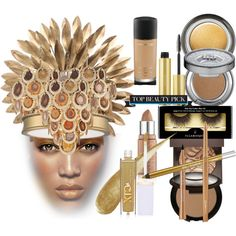 Top Beauty by coppin-s on Polyvore featuring beauty, Kelly Teegarden Organics, Urban Decay, Illamasqua, Becca, Giorgio Armani, MAC Cosmetics, Sephora Collection, AERIN and Bourjois