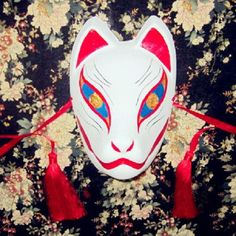 >> Click to Buy << Full Face Hand-Painted Japanese Fox Mask Hata No Kokoro Pattern Cosplay Masquerade For Party Carnival Halloween #Affiliate
