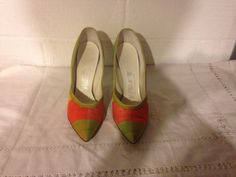 VINTAGE RETRO PLAID THE M. ONEIL CO WOMAN'S HEELS SHOES #fashion #clothing #shoes #accessories #vintage #womensvintageshoes (ebay link)