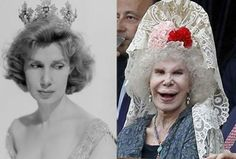 young Duchess of Alba  | by side alba today and alba as a young woman