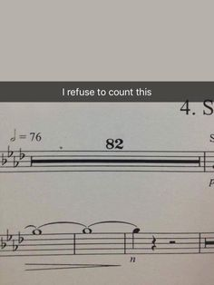 refuse to count this Funny Band Memes, Music Memes Funny, Music Puns, Music Humor, Funny Relatable Memes, Orchestra Humor, Musician Jokes, Band Problems, Theatre Problems