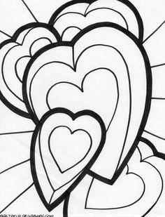 Hearts And Roses Coloring Pages | coloring page bow heart coloring page flying heart coloring page