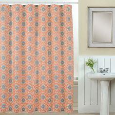Suzani 13 Piece Printed Shower Curtain Set