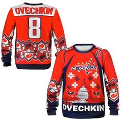 2314136bd Washington Capitals Alexander Ovechkin Ugly Sweater Ugliest Christmas  Sweater Ever