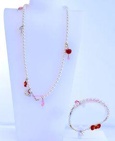 b331848f1 Swarovski Hello Kitty Pearl Necklace Bracelet 1097207 Authentic Brand New  In Box 2
