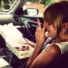 Bella  Enjoyed Some Krispy Kreme Doughnuts