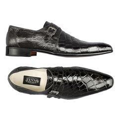 Fennix Made in Italy - Black Genuine Alligator & Ostrich