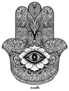 hamsa preto e branco tatto - Pesquisa Google