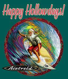 Aloha Express by Rick Rietveld Fine Art, Illustration and Graphic design Santa Claus Drawing, Lightning Bolt Logo, Santa Claus Images, Tiki Art, Surf Design, Beach Quotes, Christmas Drawing, Painting Wallpaper, Surf Art