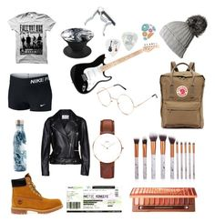 """""""Wish list"""" by chelseabelle03 on Polyvore featuring Timberland, NIKE, Urban Decay, Black, Swell, Acne Studios, Daniel Wellington and Fjällräven"""