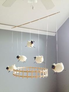 Lamb, Sheep, Baby Mobile for Nursery by CurlyCarmenandTim @Craftsy