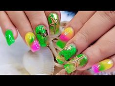 Nail Art Designs Decorated with starfish/Uñas Acrilicas Diseños Con estrellas de mar - YouTube Neon Yellow Nails, Nail Art Videos, Nail Tutorials, Nail Trends, Acrylic Nails, Create, Youtube, Yellow Nails, Starfish