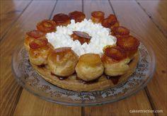 Tarta Saint Honoré, paso a paso en el blog. ¿Os gustan los profiteroles? Entonces esta es vuestra tarta. Es un poco elaborada pero el resultado os sorprenderá!.