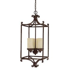 View the Capital Lighting 9224-261 Highlands 3 Light 1 Tier Cage Chandelier at LightingDirect.com.
