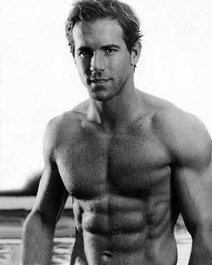 And I have gone totally gay over Ryan Reynolds. It's entirely possible that I am sick because I've gone totally gay over Ryan Reynolds, but I'm pretty sure it was the crappy dinner I ate. Perfect People, Beautiful People, Perfect Man, Beautiful Boys, Perfect Body, Ryan Reynolds Shirtless, Ryan Reynolds Abs, Shirtless Men, Hot Men
