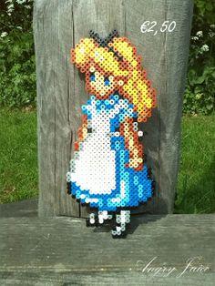 Alice in Wonderland  perler beads by xGirugameshx on deviantART