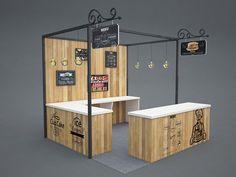 Food Festival Booth Design Food Festival Booth Design on Behance Kiosk Design, Display Design, Cafe Design, Store Design, Food Stall Design, Food Cart Design, Food Kiosk, Food Stands, Exhibition Stand Design